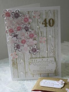 Kartenfenster: zum Geburtstag - 40 - Petite Petals