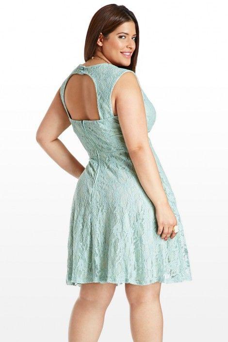 Fashion To Figure Mint Green Lace Dress Plus Size