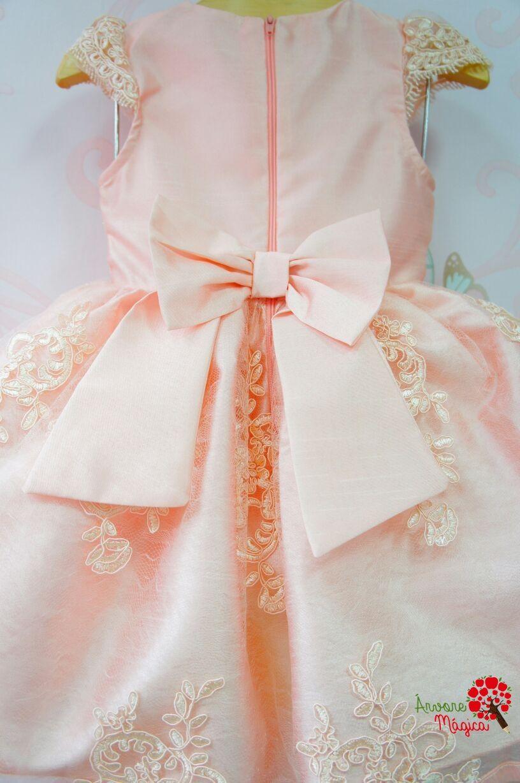 f9c0fd026b Vestido de Festa Infantil Bordado Luxo Petit Cherie