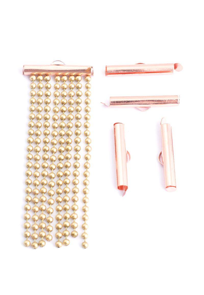 Metalen schuifklemmetje/schuif eindkapje 25x6mm
