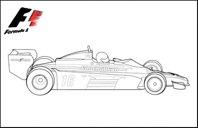 Formula 1 Racing Cars Sports Coloring Pages Cars Coloring Pages