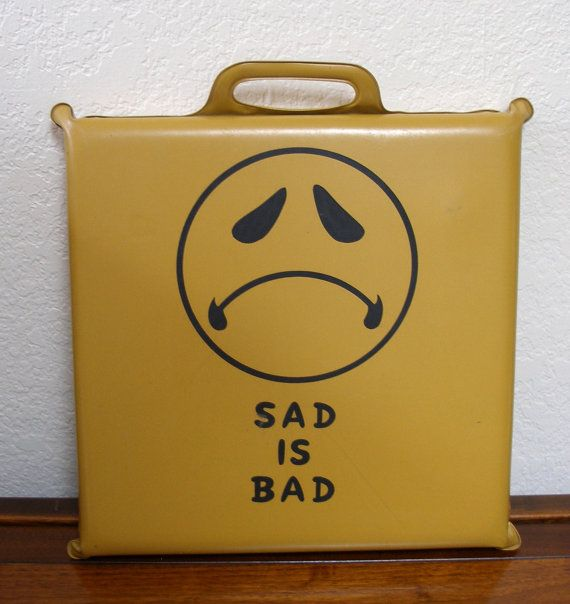 Vintage Smiley Happy Face Stadium Seat Cushion by MODMAKESIT
