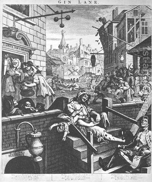 Gin Lane 1750 51 William Hogarth Gin History Gin