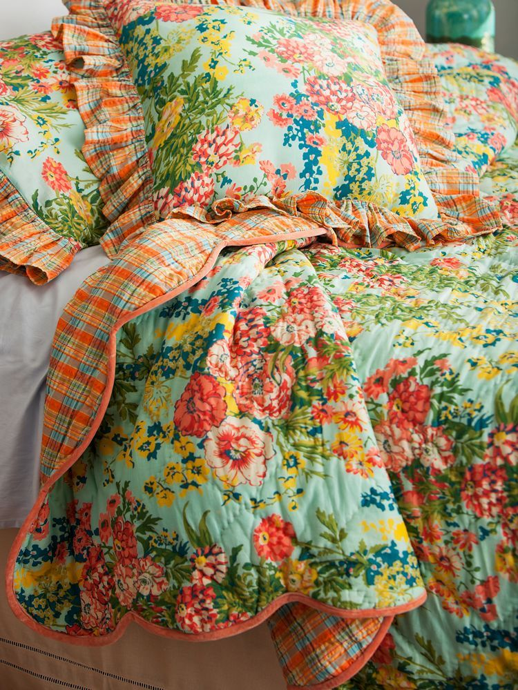 April Cornell English Garden Reversible Cotton Quilt Take