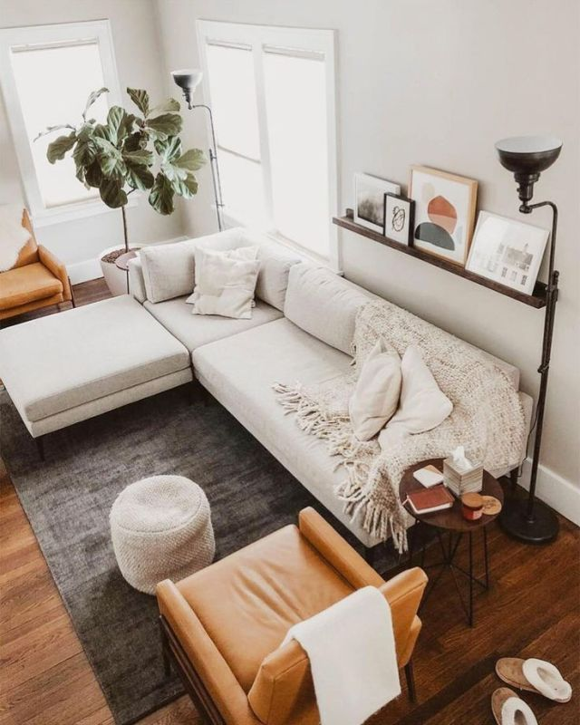 A Mix Of Mid Century Modern Bohemian And Industrial Interior Style Home And Apartment Industrial Interior Style Apartment Living Room Living Room Interior
