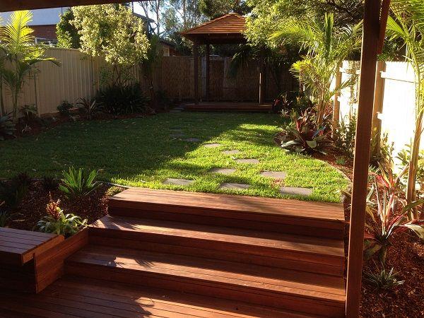 balinese garden design northern beaches sydney timber steps