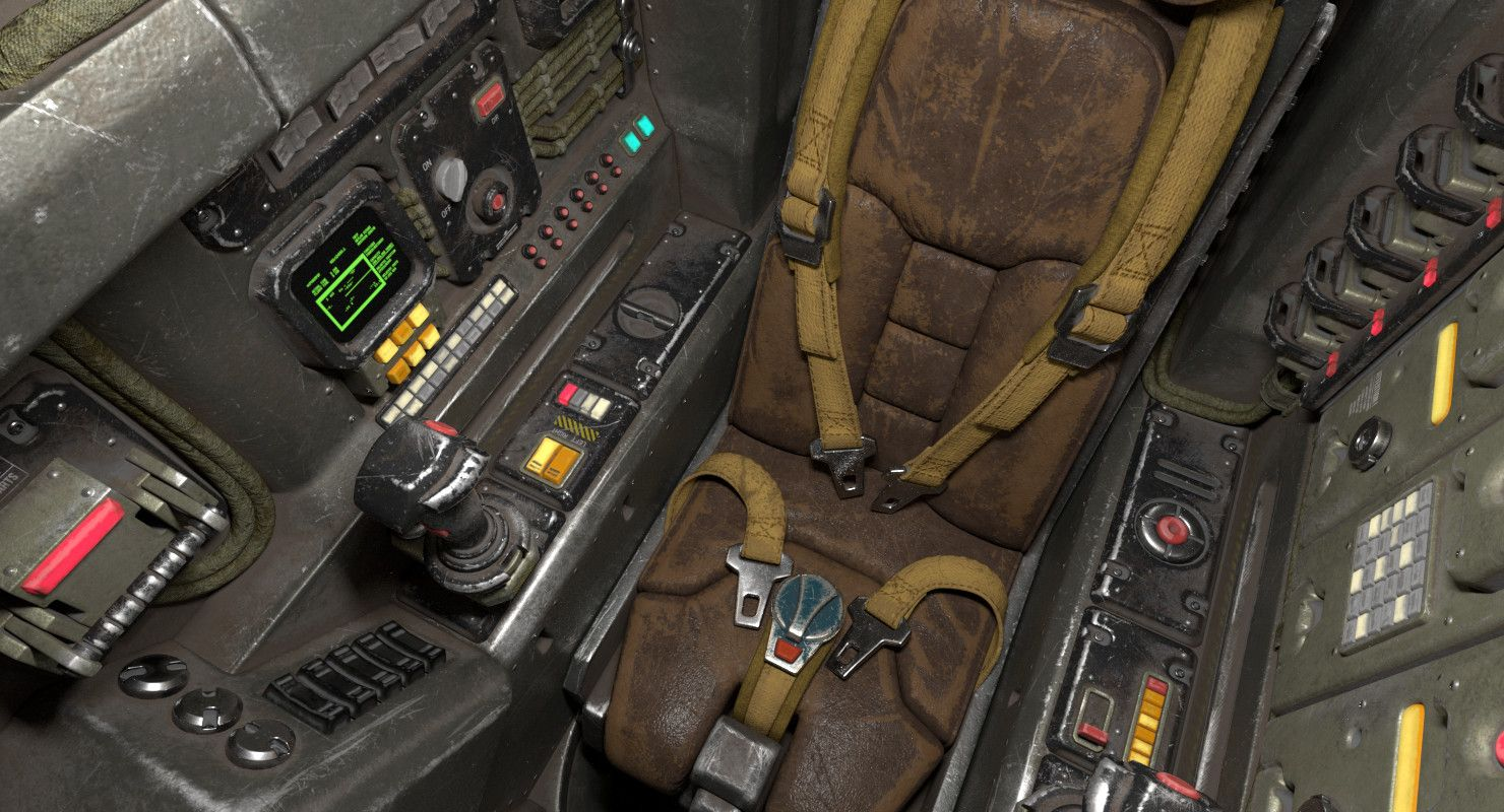ArtStation - Sci-Fi Cockpit, Roman Makarenko   Sim   Sci fi