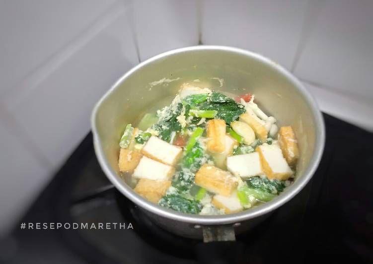 Resep Sayur Sawi Telur Tofu Oleh Maretha Rizky Resep Tahu Telur Makanan