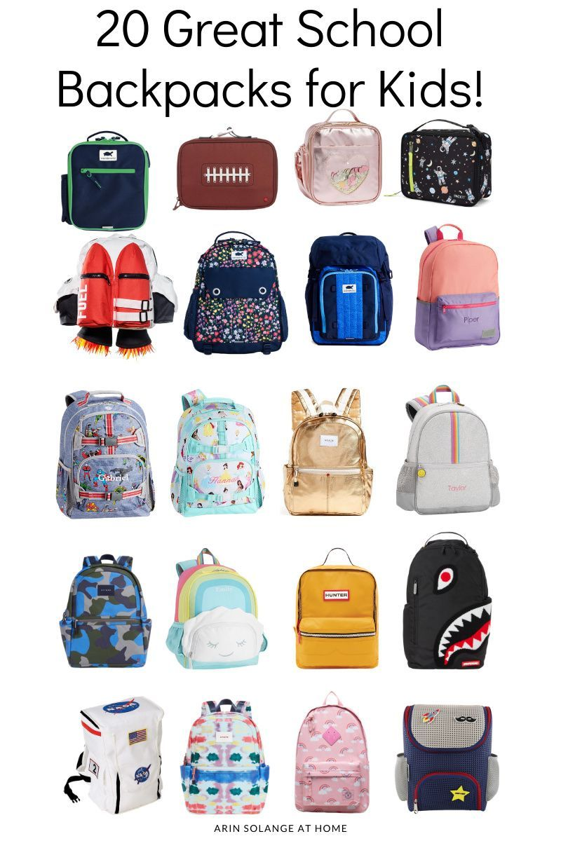 Here are 20 amazing backpacks for kids! Perfect for your. little boy or girl heading to kindergarten or elementary school. The best backpacks for your child!