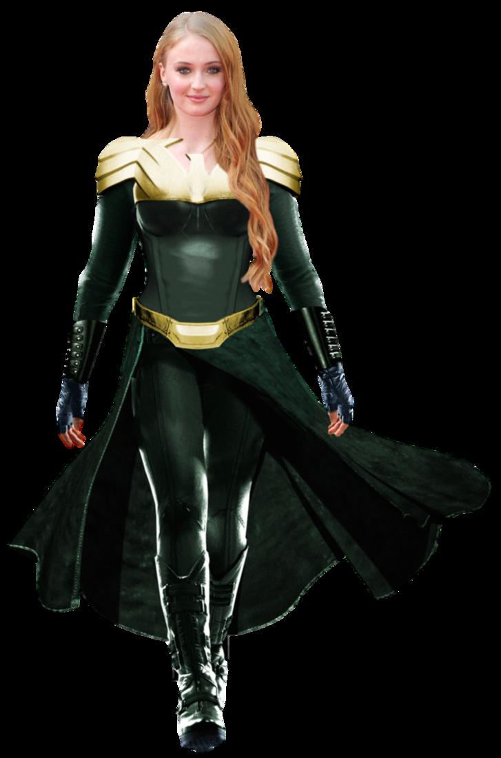 Sophie Turner As Phoenix Transparent Background By Camo Flauge Superhero Images Marvel Girls Marvel Women