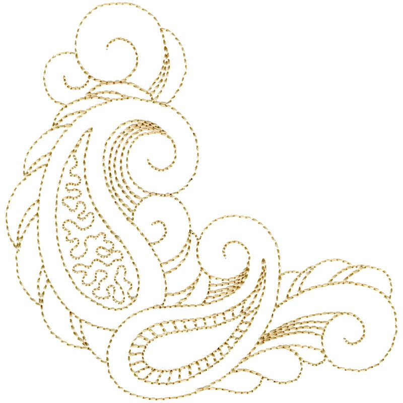 Quilting Paisley Corner #12380-38 | Leather Pattern