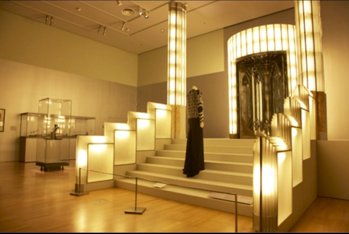 Art Deco Foyer : Art deco  exhibition featuring the foyer from