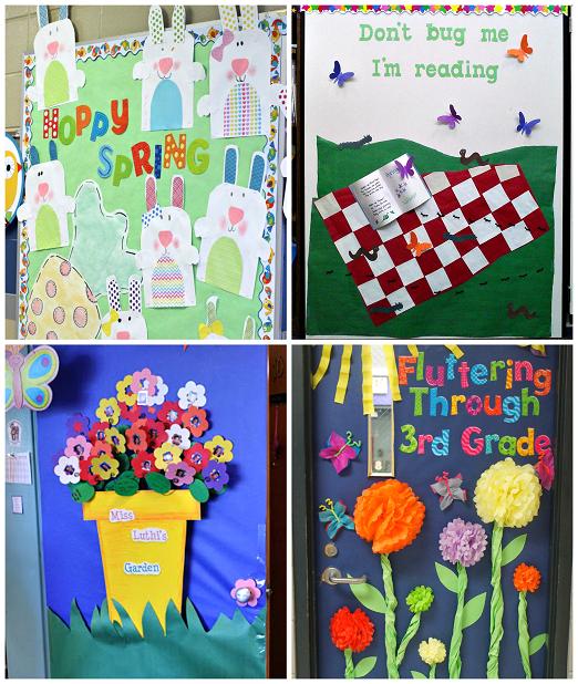 Spring Bulletin Board Ideas The Paper Pom Pom Flowers