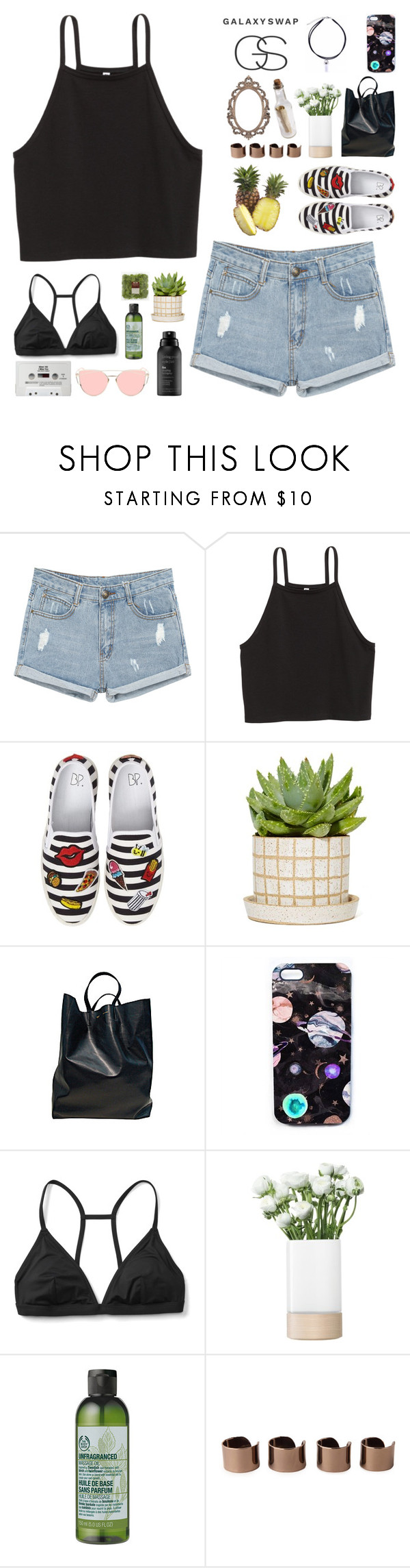 """{ ☀ galaxyswap contest ☀ ] we won't survive, we're sinkin' into the sand ~"" by wintervale ❤ liked on Polyvore featuring BP., CÉLINE, Nikki Strange, Gap, LSA International, CO, The Body Shop, Maison Margiela and Living Proof"