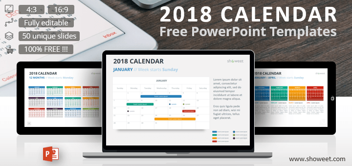 Free 2018 calendar powerpoint templates charts diagrams for free 2018 calendar powerpoint templates toneelgroepblik Images