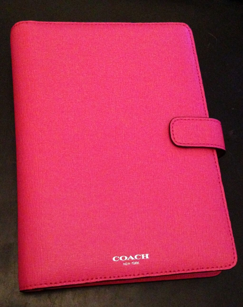 Coach Saffiano leather planner