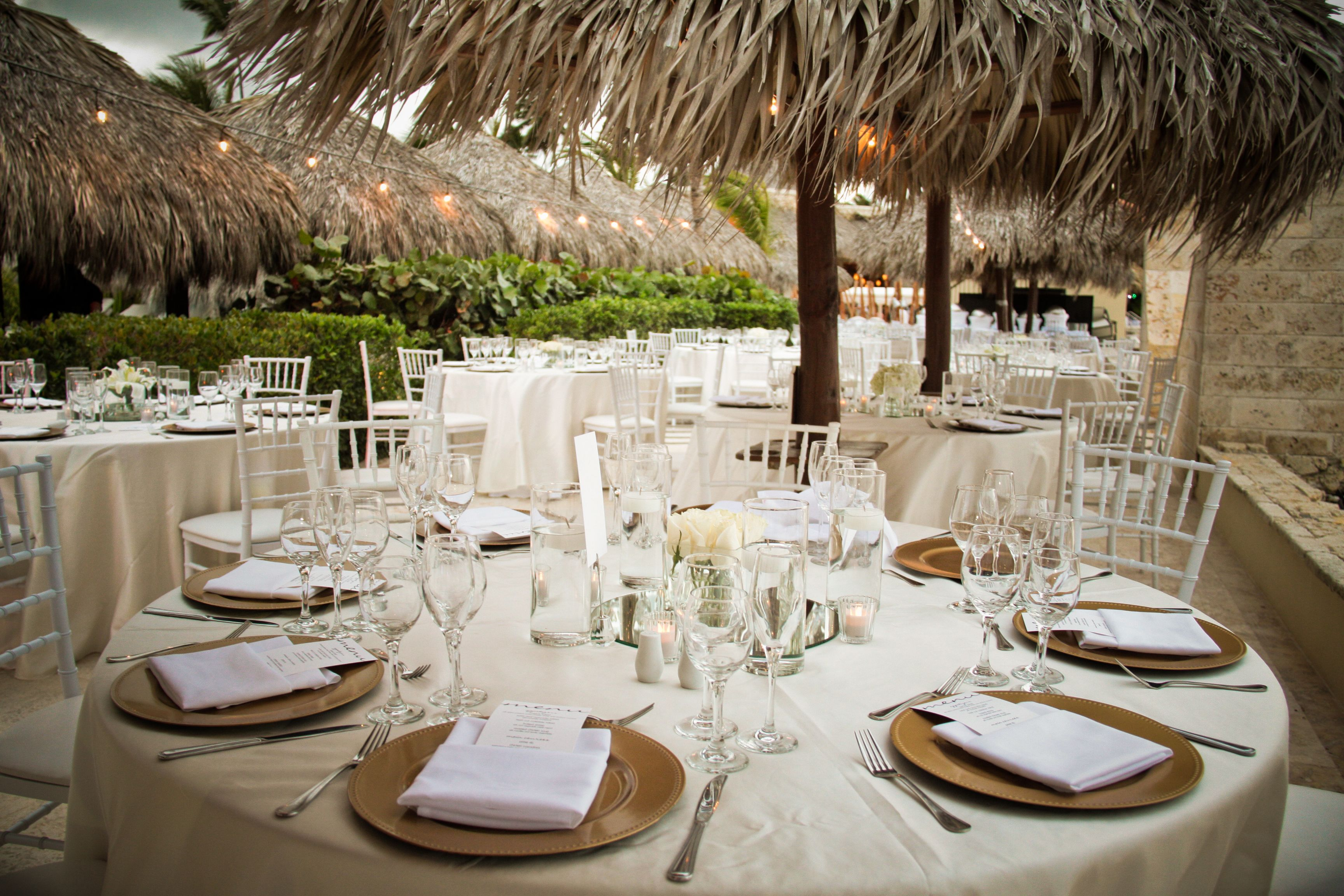 Beach Reception Setting At Paradisus Palma Real By The In