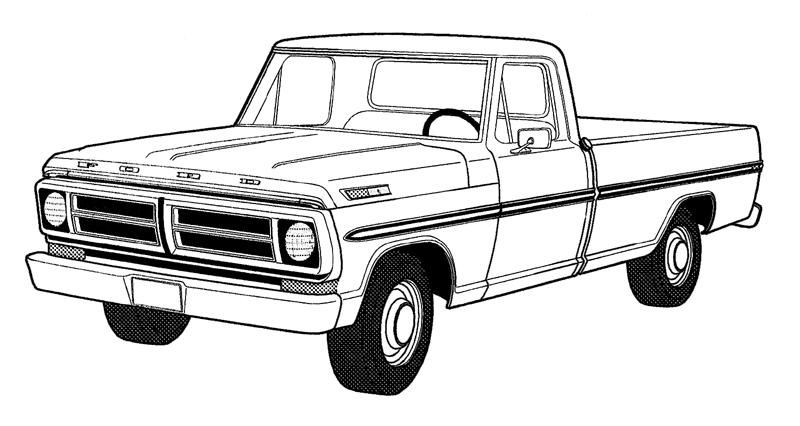 F150 Clipart Truck Coloring Pages Old Ford Truck Car Drawings
