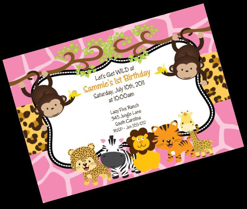 Monkey Birthday Invitation Petting Zoo Birthday Invitation Safari ...