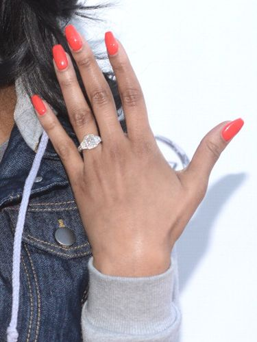 Meagangood Engagementring Celebrity Wedding Wedding Rings For
