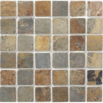 Mosaique Sol Mur En Ardoise Brazil 5x5 Rouille 30 5x30 5cm Leroy Merlin Mosaique Rouille Sol