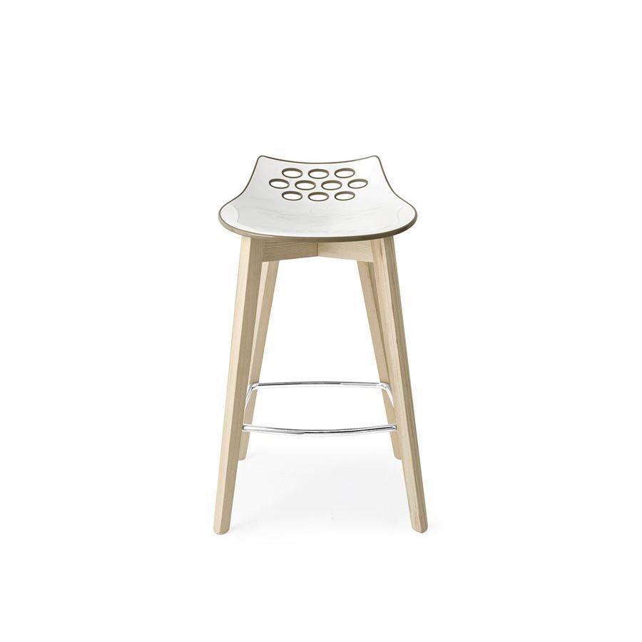 Sgabello legno con seduta plastica Connubia Calligaris Jam W CB/1485 ...