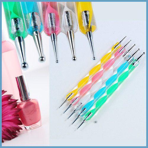 Set 5 2way Dotting Pen Marbleizing Tools Kits Nail Art By Kbazaar 5 00 Paint Kit Nail Art Dotting Tool Dotting Tool