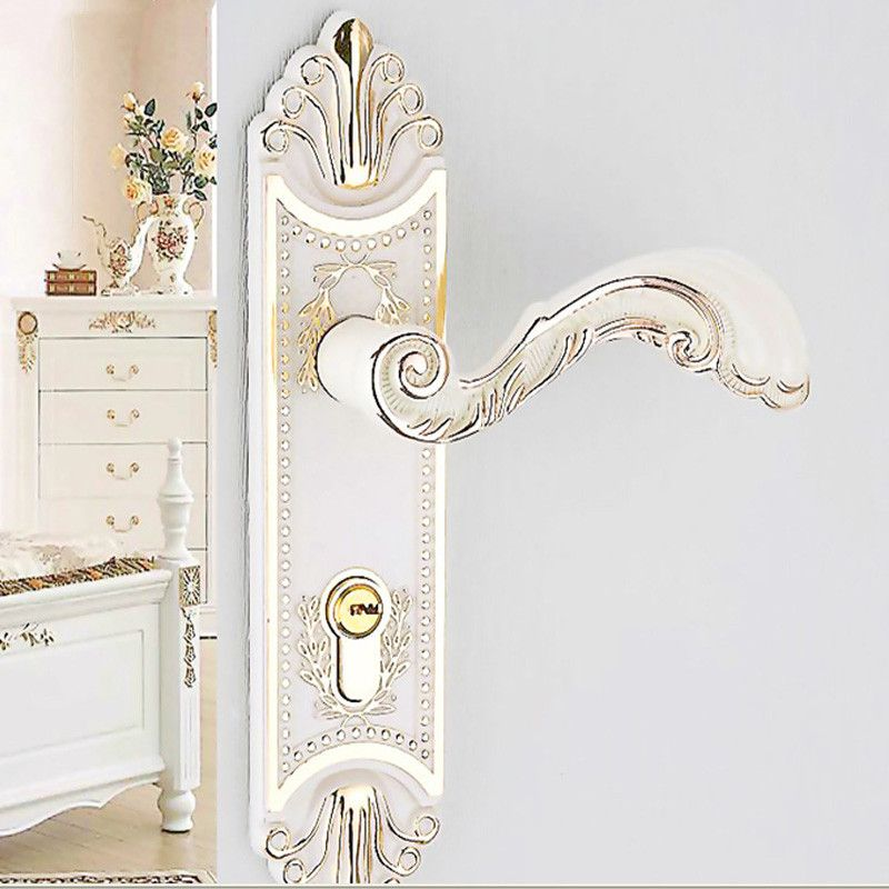 the door knob lock european indoor bedroom door locks ivory white
