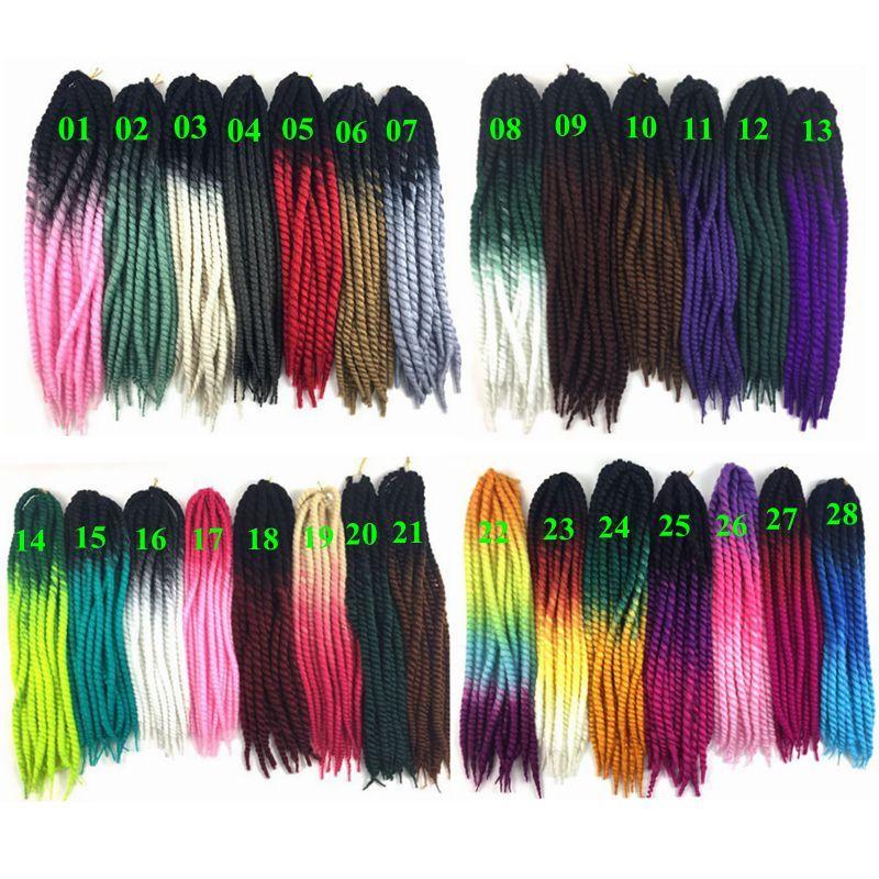 Ombre Havana Mambo Twist Crochet Braid Hair 22'' 120g/pc 2X Synthetic Kanekalon Senegalese Havana Mambo Twist Braids Hair