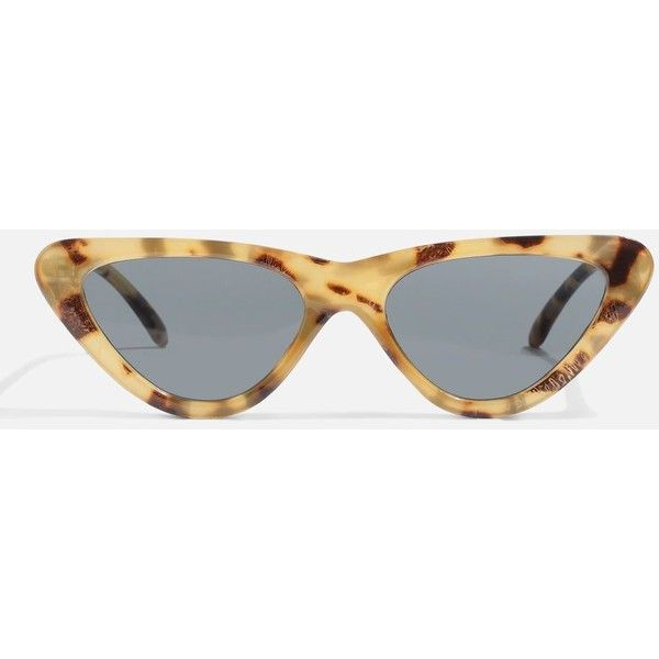 Topshop Pointy Polly Frame Sunglasses (32 CAD) ❤ liked on Polyvore featuring accessories, eyewear, sunglasses, tortoise glasses, retro sunglasses, topshop sunglasses, tortoise shell glasses and tortoise shell sunglasses