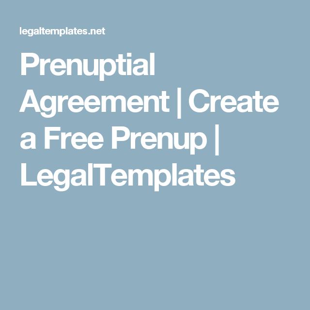 Prenuptial Agreement Create A Free Prenup Legaltemplates The