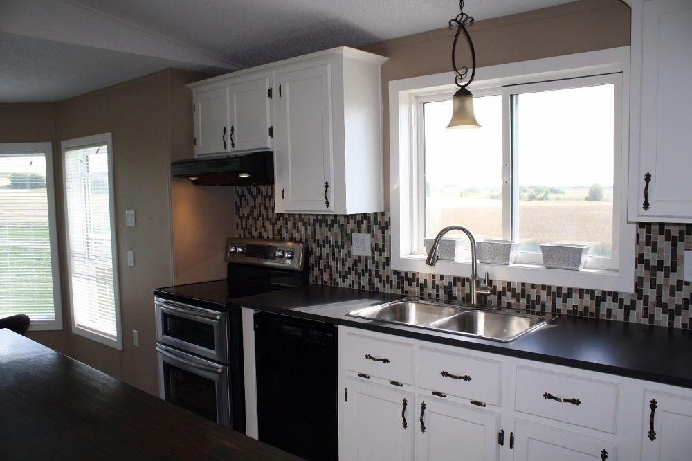 Mobile Heartache to Mobile Home   Mobile home kitchens, Manufactured home remodel, Home decor ...