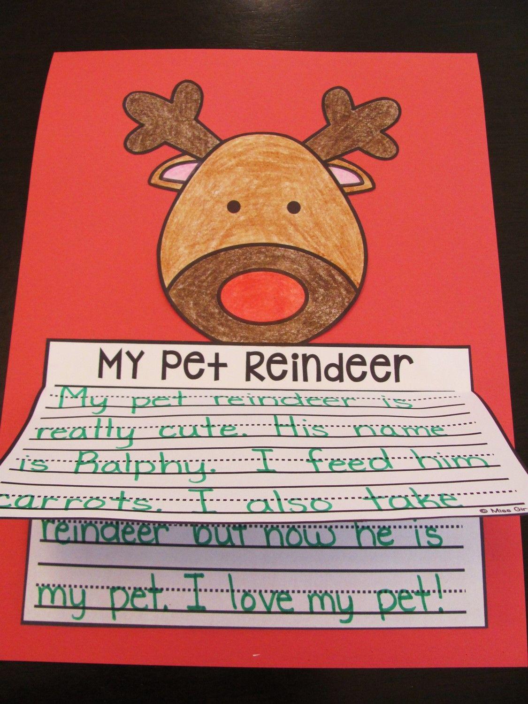 Reindeer Craft No Prep Reindeer Writing Activity