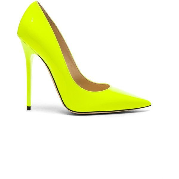 99e127a49343 ... order jimmy choo neon patent leather anouk heels 620 liked on polyvore  featuring shoes pumps heels