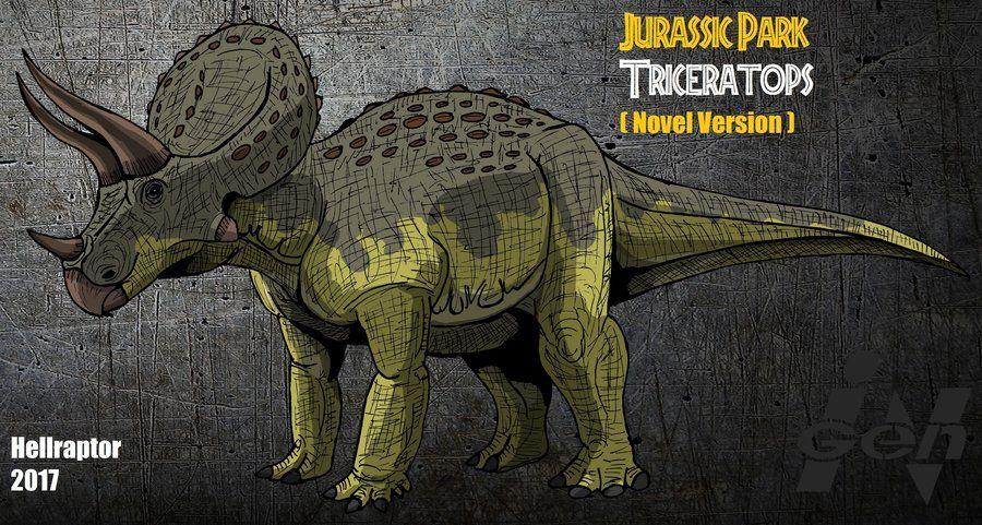 Jurassic Park novel Triceratops ( New Art !) by