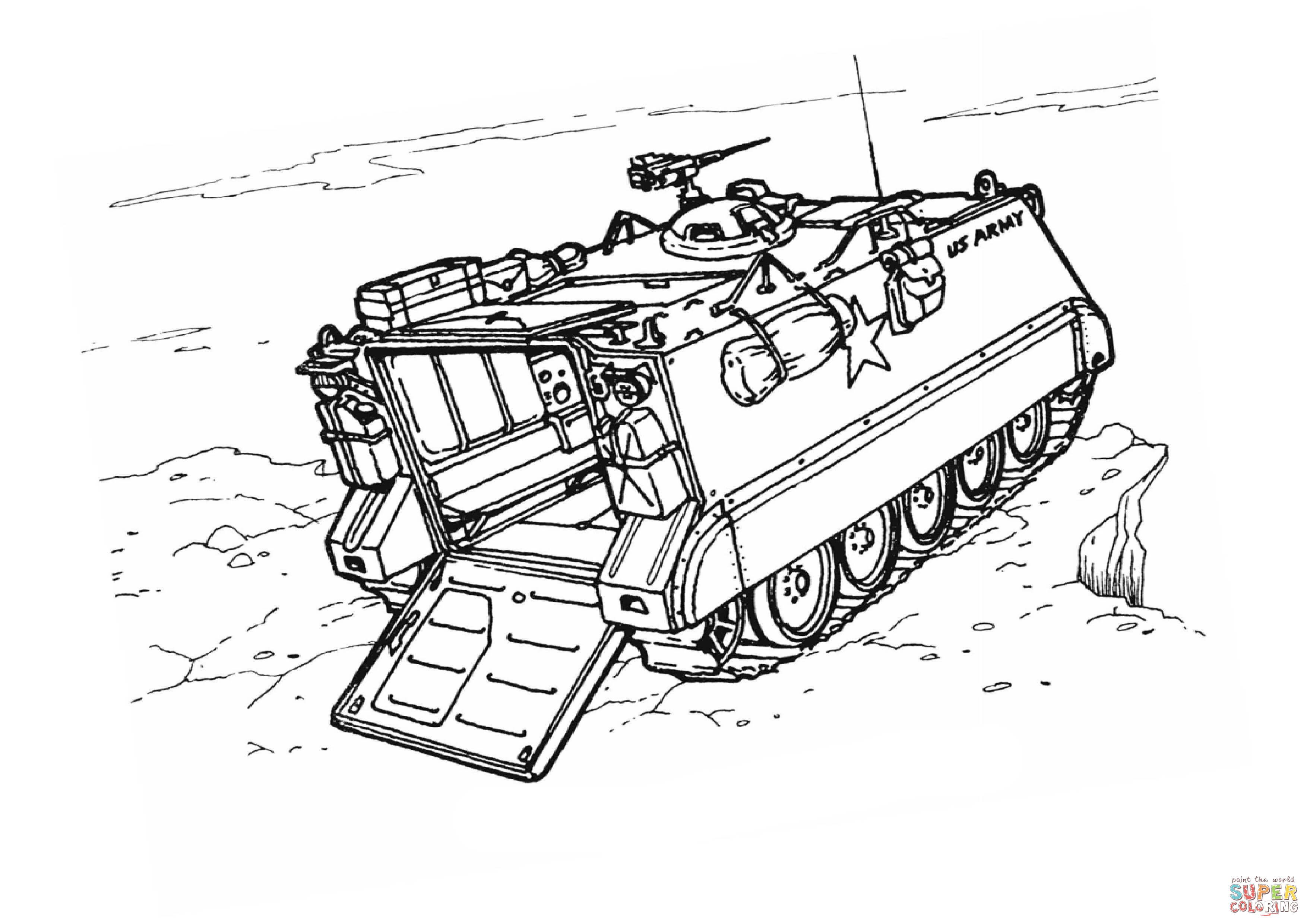 m113 armored personnel carrier super coloring armoured personnel carrierfree printablesoldierscoloringmilitaryfree printablesmilitary man - Army Tank Coloring Pages Print