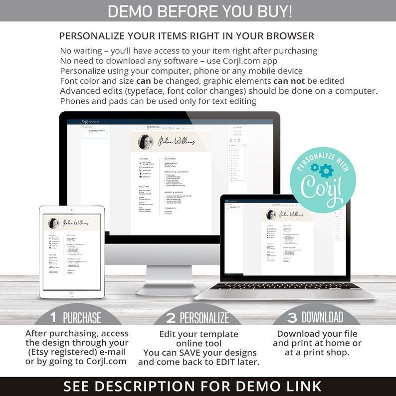Editable sorority recruitment packet mini pack resume