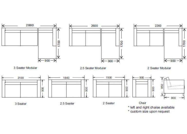 Image result for standard size of 3 seater sofa | desain rumah ...
