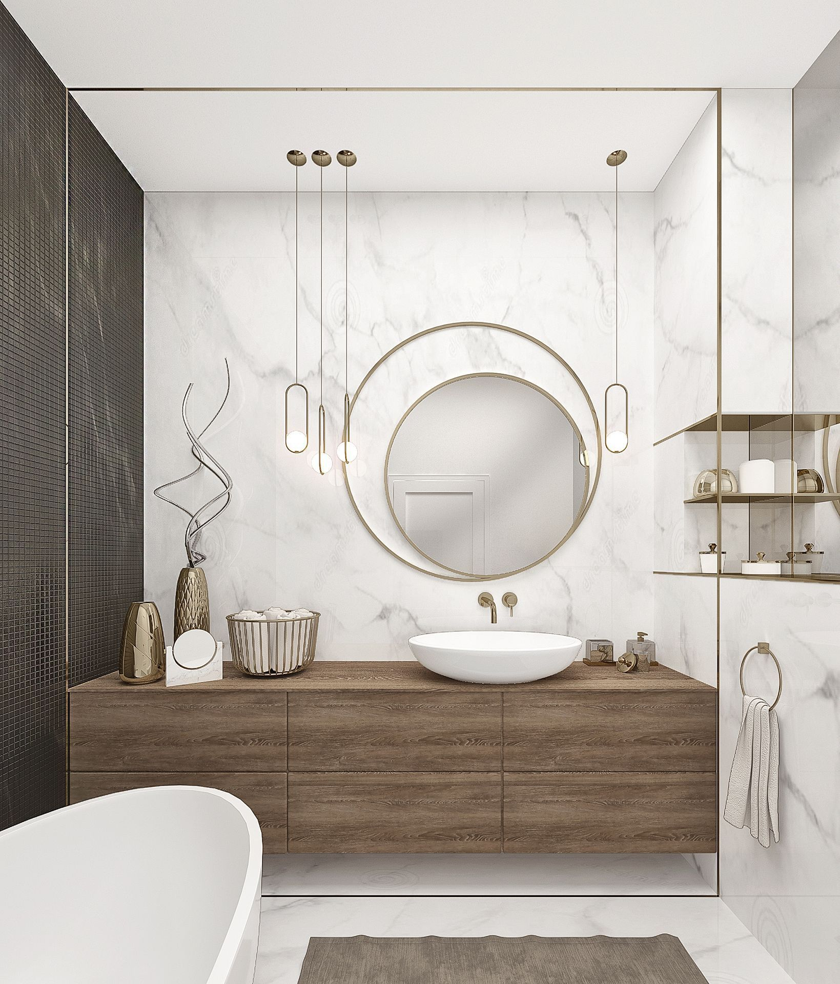 Get the best midcentruy modern mirror inspiration for your interior design project look for more
