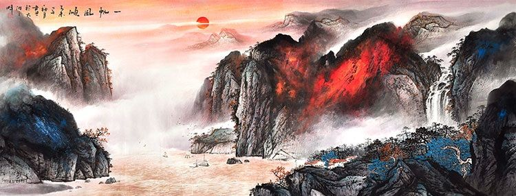Modern Art Famous Artists Splash Painting Large Paintings Chinese