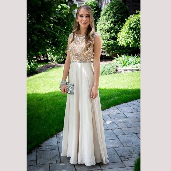2017 Prom Dresschampagne Prom Dress Discount Formal Dresses Hot