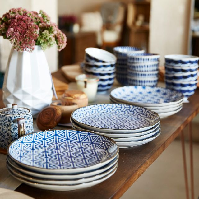 Blue And White Geometric Heaven At The Wohnzimmer Pop Up Shop In
