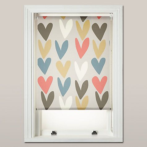 Buy Caroline Gardner Hearts Daylight Roller Blind, Multi ...