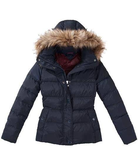 Tommy Hilfiger Damen Jacke Maine Down Jacket Marine Von Tommy Hilfiger Fashion Down Jacket Winter Jackets