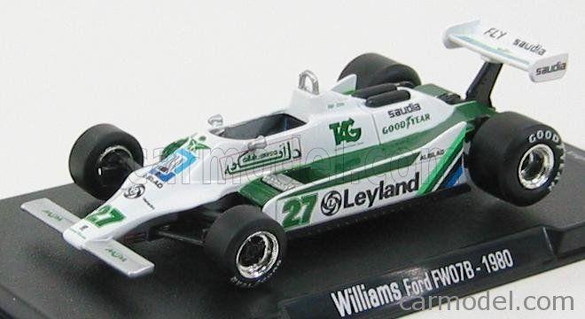 Edicola Gl05 Scale 1 43 Williams F1 Fw07b Team Albilad Williams Racing N 27 Alan Jones Season 1980 World Champion White Green Williams F1 Racing Williams