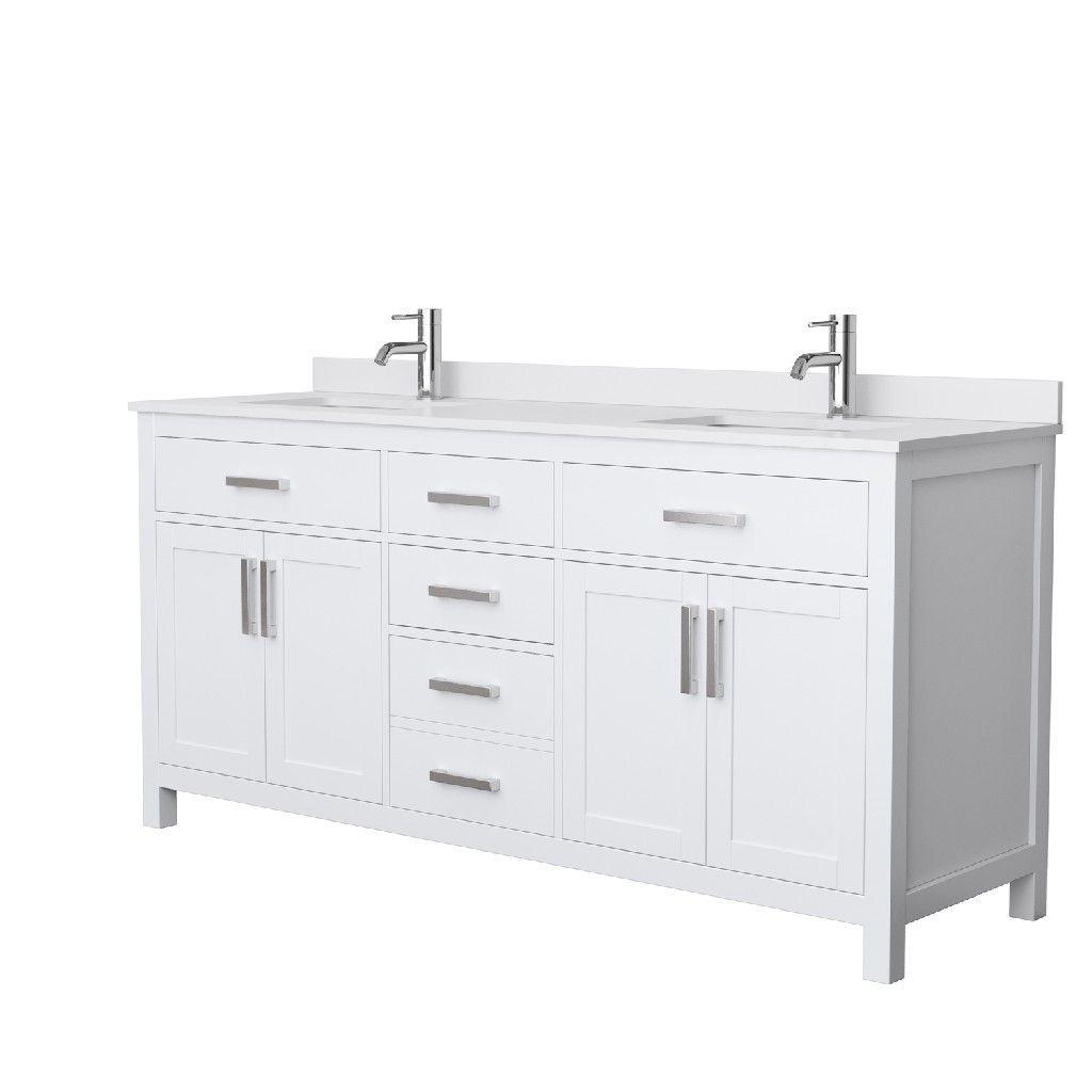 72 Inch Double Bathroom Vanity In White White Cultured Marble Countertop Undermount Squ Double Vanity Bathroom Marble Vanity Tops Double Sink Bathroom Vanity [ 1024 x 1024 Pixel ]