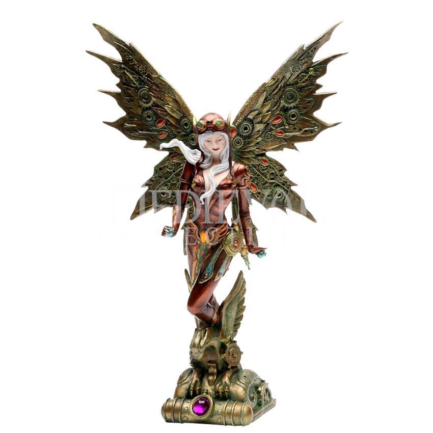Standing Steampunk Fairy Statue - CC9069 by Medieval Collectibles