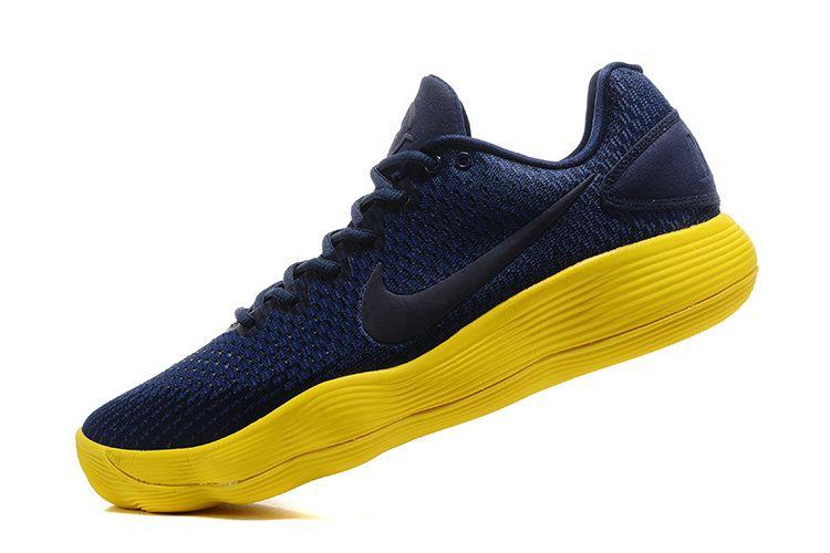 Nike Hyperdunk 2017 Low Midnight Navy Warriors Yellow