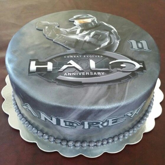 Fantastic Halo Birthday Cake With Images Halo Birthday Parties Halo Birthday Cards Printable Nowaargucafe Filternl