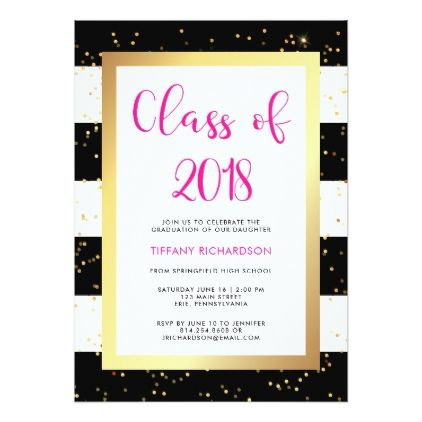 Modern confetti class of 2018 graduation party invitation modern confetti class of 2018 graduation party card graduation party invitations card cards cyo stopboris Choice Image